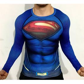 Playera Superman Crossfit Gym Dccomics Superheroe Compresion