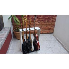 Suporte Guitarras 4 Lugares De Chão Com Travas