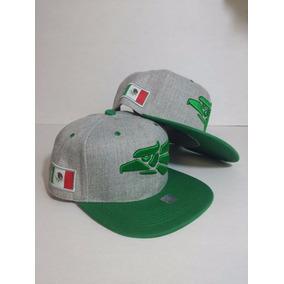 Gorra Mundial Hecho En Mexico Aguila Y Bandera Verde Gris 7b27b9741aa