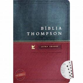 b64c898e8c8 Biblia Thompson Aec Letra Grande Luxo Verde E Vinho - Livros de ...