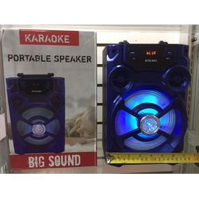 Corneta Bluetooth Inalambrica Cajon Sonido Con Luces Fiesta