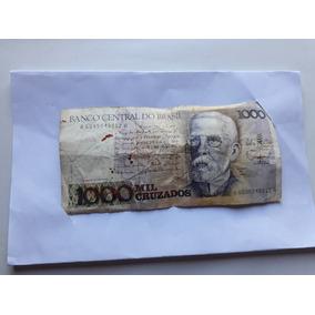 Nota Dinheiro Antigo - 1000 Cruzados - Brasil