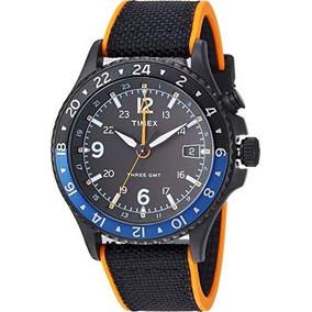 69ddec69c7fc Timex Hombres Aliada Tres Gmt Negro   Naranja Talla