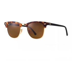 5381979121f21 Oculos Clubmaster Rayban Marrom amarelo - Óculos no Mercado Livre Brasil