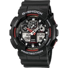 291aca0bf13 Relógio Casio G Shock Ga 100 Wr 200 5 Alarmes Hora Mundial B ...