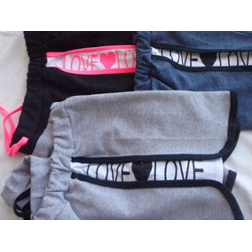 Kit 3 Shorts Love+3 Regatas Academia Fitness Promoção