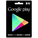 Google Play Gift Card $10 - Tarjeta De Regalo - Usa