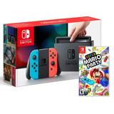 Consola Nintendo Switch Neon Joy-con Con Super Mario Party