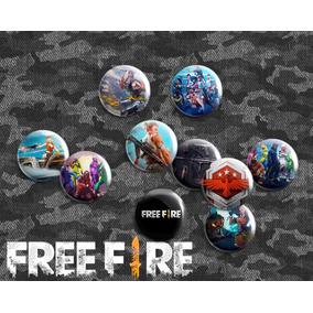 10 Bottons Bóton Broche Pin Free Fire 3.5 Cm