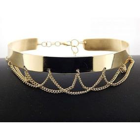 ad5a0d6b4e61 Liston Para Chokers - Collares y Cadenas Oro Sin Piedras en Mercado ...