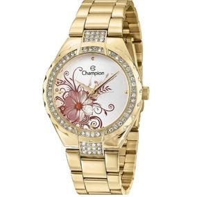 5d43efdd9c2 Relógio Champion Nova Coleção Feminino Ouro Rose Strass - Relógios ...