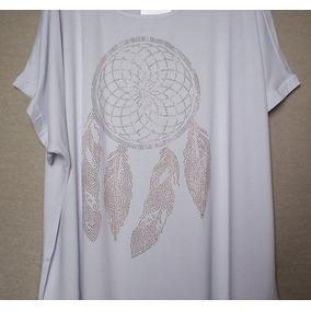 Roupa Feminina Blusa Bata Viscolycra Plus Size Filtro Sonho 27fde218b5d