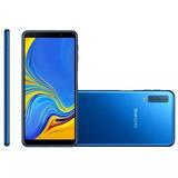Celular Samsung A7 2018 Duos 4gb/64gb Azul / Só Hoje