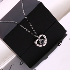 Collar Te Amo I Love You En 100 Idiomas Caja Regalo