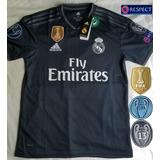 Jersey Playera Real Madrid 2019 Negro Champions League.