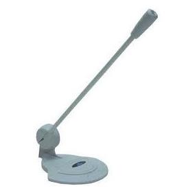 Microfone Para Computador Pc Notebook Branco Pedestal Novo