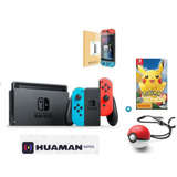 Nintendo Switch Neon +pack Pokemon // Huamansales