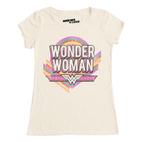 Playera Dama Mascara De Latex Modelo Vintage Wonder Woman