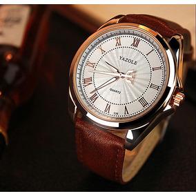 d4dedb20294 Relógio Quartz Social Masculino Yazole Pulseira Em Couro - Relógios ...