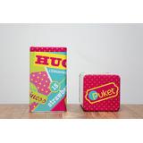 Pote Lata Decorativa Puket Quadrada - Super Oferta