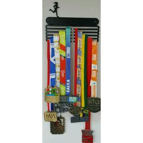 Portamedalhas Corrida Aço Fem+masc 50 Medalhas (kit C/2pçs))