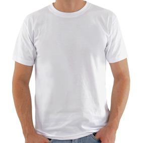 Camisa Lisa Branca 100% Poliester Para Sublimação Masc
