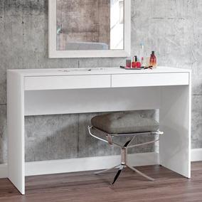 Penteadeira/ Escrivaninha Com 2 Gavetas Lindóia - Branco