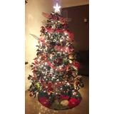 Arbol De Navidad De 2.10mts, Con Todos Sus Adornos (peluche)