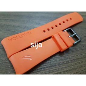 29e1549f29d Pulseiras Relogio Nautica N14538g Laranja - Relógios no Mercado ...