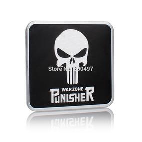 Emblema Warzone Punisher Vingador Metal Adesivo Moto Harley