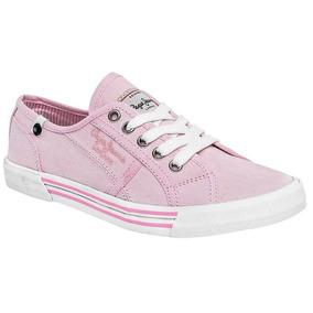 Tenis De Mujer Pepe Jeans Ip3 68880 Envio Inmediato Rosa