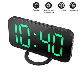 Nexgadget Reloj Despertador Electrónico Digital Espejo Led