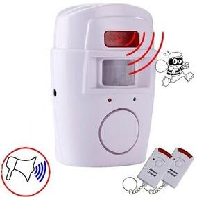 Kit Alarme Sem Fio Residencial Sensor Sirene + 2 Controles