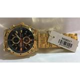 39570ac0fba Relógio Vip Mh-8317 Pulseira Dourada Funco Preto Promoção