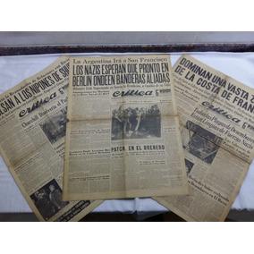 Lote 11 Diario + 10 Portadas Del Diario Critica Año 1939