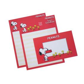 Conj 2x Papel Carta 1x Envelope Snoopy Peanuts (frete.$9,5#)