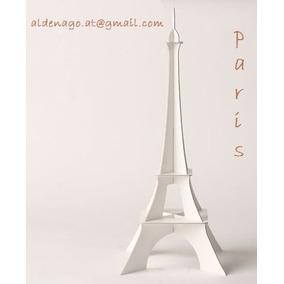 Torre Eiffel 30cm En Mdf Y Madera