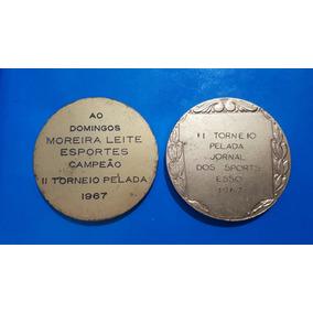2 Medalha Futebol Torneio Pelada 1967 Jornal Dos Sports Esso