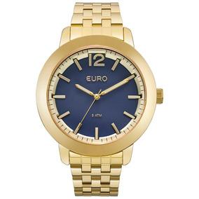 8ca1b28d63c Relógio Euro Azul Marinho E Dourado Outras Marcas - Relógios De ...