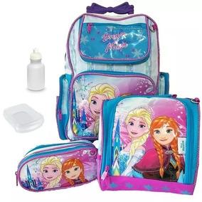 Kit Mochila Infantil Rodinhas Frozen Elsa Ana Olaf Original