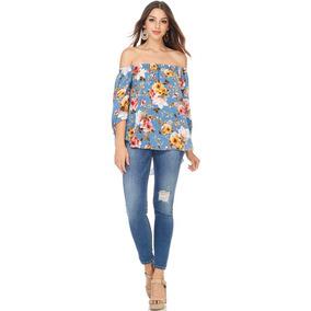 Verano 2018 - Blusa Hombros Fluida Flores