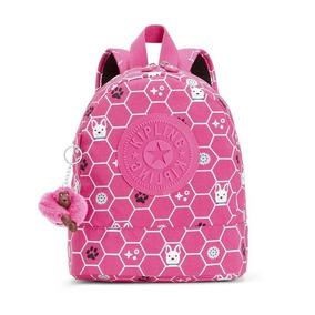 Kipling Mochila Infantil Sienna 0011367b Rosa Dog Tile