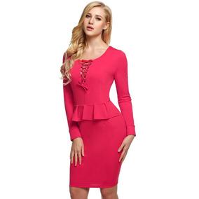 6efcbf7716 Vestidos Casuales Largos de Mujer Fucsia en Mercado Libre México