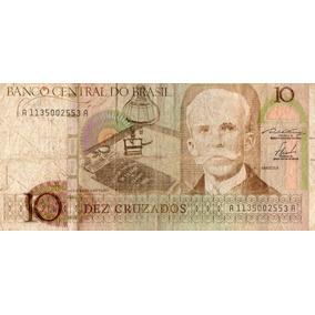 Cedula Nota 10 Dez Cruzados - Rui Barbosa