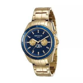 Relógio Feminino Dourado Seculus Prime 28709lpsvda1