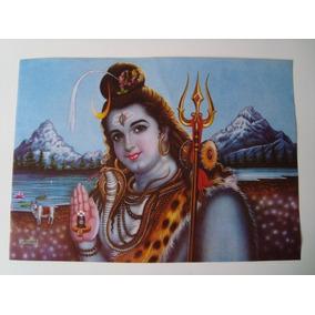 Pôster Gravura Imagem Papel Divindade Hindu Indiana Shiva 4