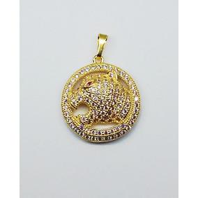 520d4af1a3b5a Pingente Folheado A Ouro Pantera - Joias e Relógios no Mercado Livre ...