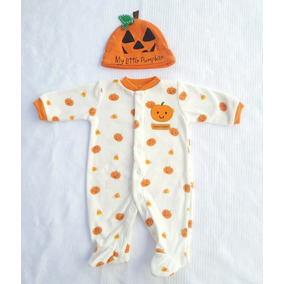 Mi Primer Halloween Mameluco Unisex, Calabaza Outfit