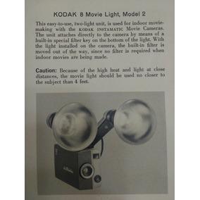 Lampara Kodak 8 Movie Light Para Filmadora Antigua