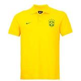 Camisa Polo Nike Polo Brasil Verde Amarela no Mercado Livre Brasil b03c0b57ca37f